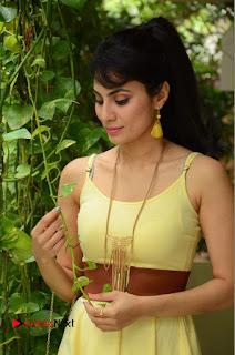 Actress Manisha Kelkar Latest Picture Gallery in Yellow Short Dress  0034.JPG