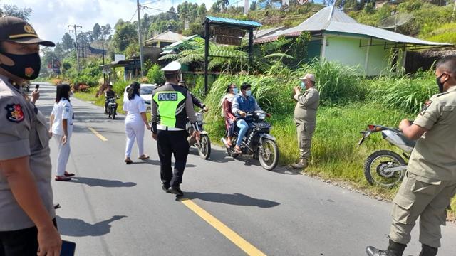 Tepatnya DiBukit Simarjarunjung, Personel Jajaran Kodim 0207/Simalungun Laksanakan Pos Pam