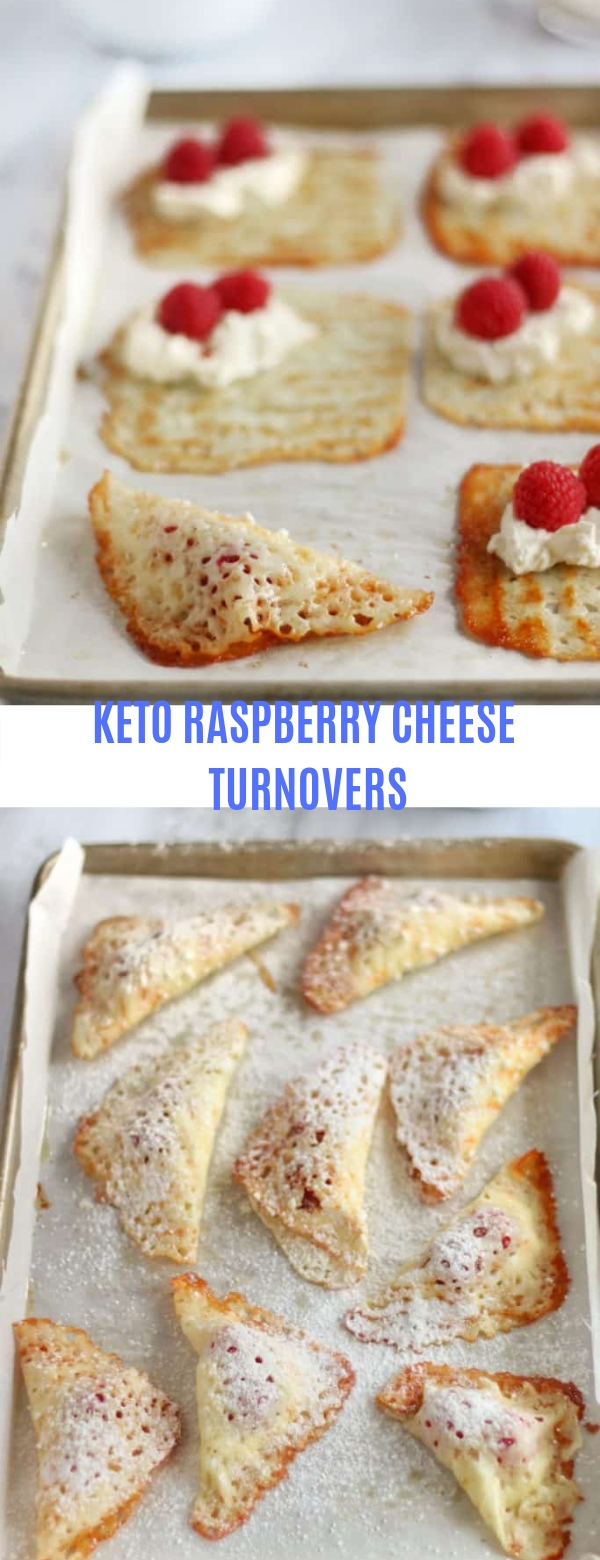 KETO RASPBERRY CHEESE TURNOVERS