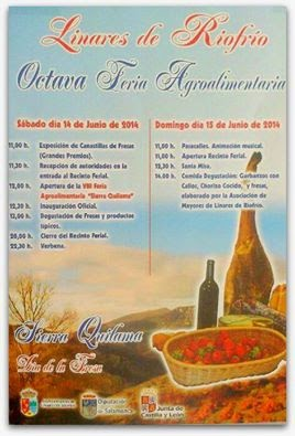 14/Junio. VIII Feria Agroalimentaria y Día de la Fresa. Linares de Riofrio