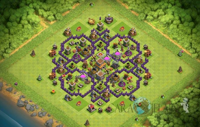 Base Farming TH 8 Clash Of Clans Terbaru 2017 tipe 8