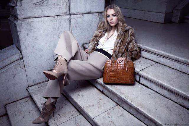 Moda carteras, zapatos, camperas y tapados de cuero Prüne otoño invierno 2016.