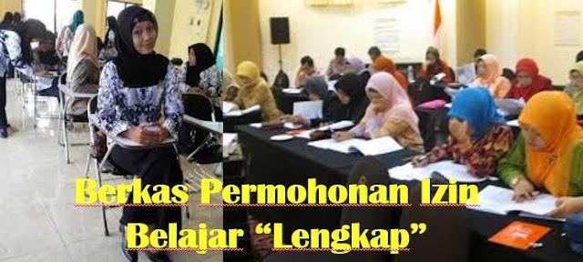 Contoh Berkas Permohonan Izin Belajar Bagi PNS/GTT/PTT Lengkap