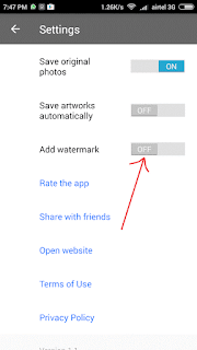 disable Add watermark
