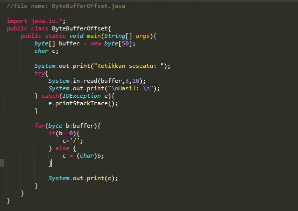 Program Java #6 – Membuat int read(byte[] buffer. int offset. int length)