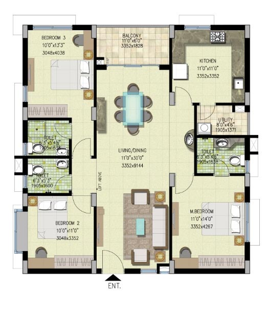 15 X 40 House Plan East Facing With Car Parking: West Facing House Plans