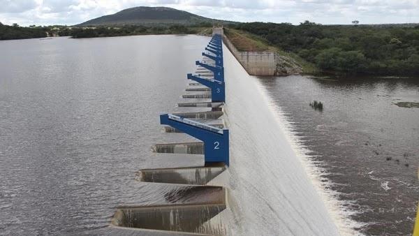 As fortes chuvas que caíram na região fizeram com que a Barragem de Ponto Novo atingisse 100% de sua capacidade