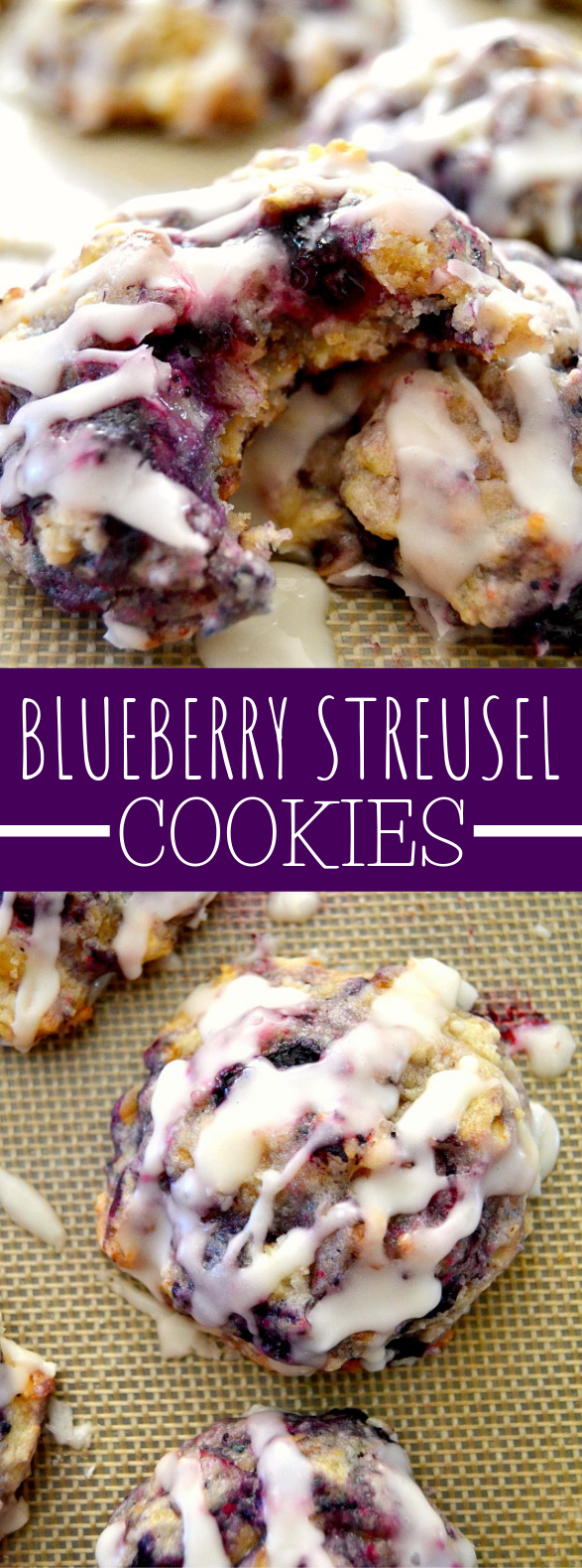 Muffin Mix Blueberry Streusel Cookies #desserts #healthydessert