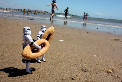 Storm troopers en la playa