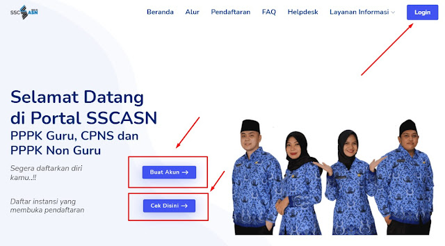 Cara Daftar Seleksi PPPK Guru Tahun 2021 di Laman SSCASN