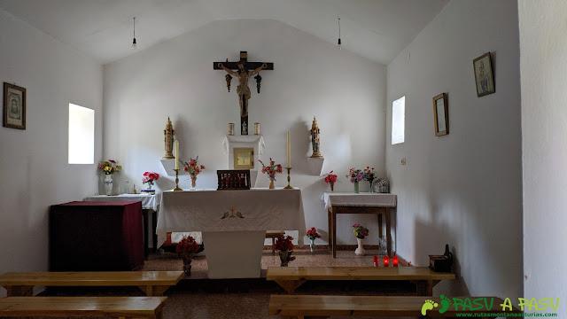 Interior de la Capilla del Santo Cristo de la Salud