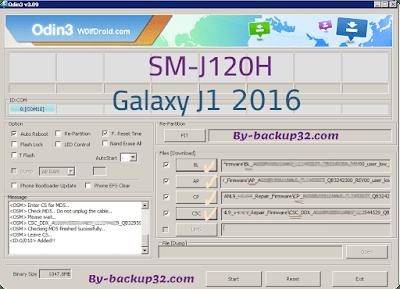 سوفت وير هاتف Galaxy J1 2016  موديل SM-J120H روم الاصلاح 4 ملفات تحميل مباشر