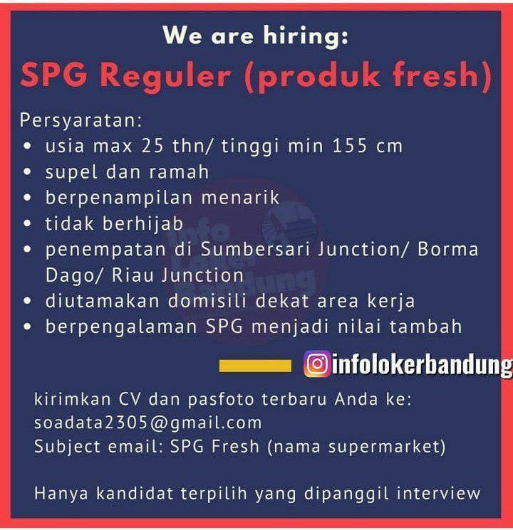 Lowongan Kerja SPG Reguler ( Produk Fresh ) Bandung Desember 2019