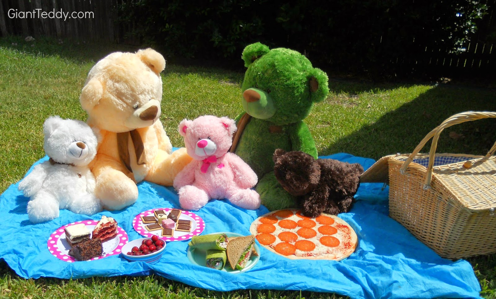 Enjoying Teddy Bear Picnic Day with my family