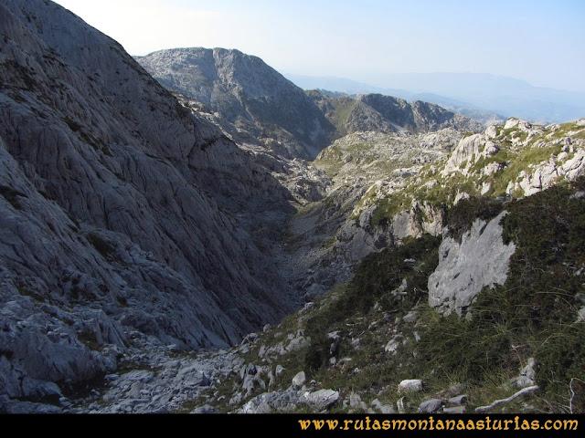 Ruta Ercina, Verdilluenga, Punta Gregoriana, Cabrones: Descendiendo por el Canalón del Conjurtao