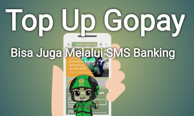 Top up gopay melalui sms banking