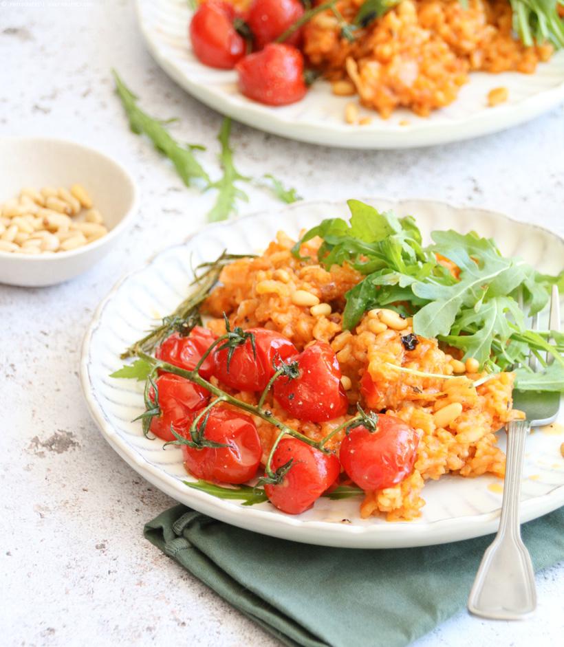 veganes Tomaten Risotto