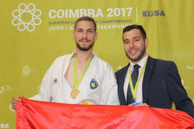 Kosovo's best karate player Alvin Karaqi leaves for Albania again