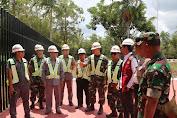 Wadansatgas Yonif 411 Kostrad Dampingi Tim Kemenko Polhukam Tinjau PLBN Di Distrik Sota