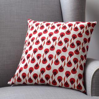 cozy birdhouse | cardinal print pillow