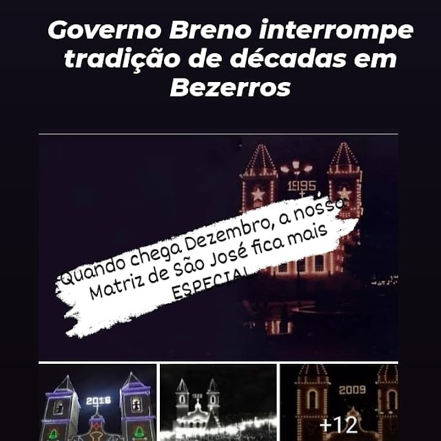BEZERROS - Comunicador mobiliza população para iluminar Matriz de São José