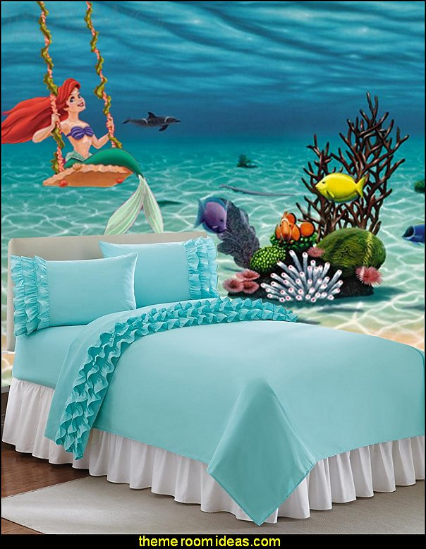 ariel wall decal underwater wall mural ruffled bedding