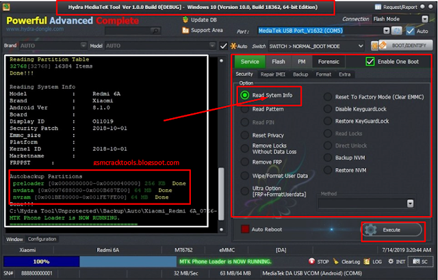 Download Hydra Spreadtrum Tool v1.0.0.37 Without Password Free Download By MobileFlasherbd
