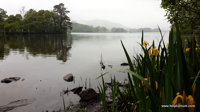 Lake windermere in the rain
