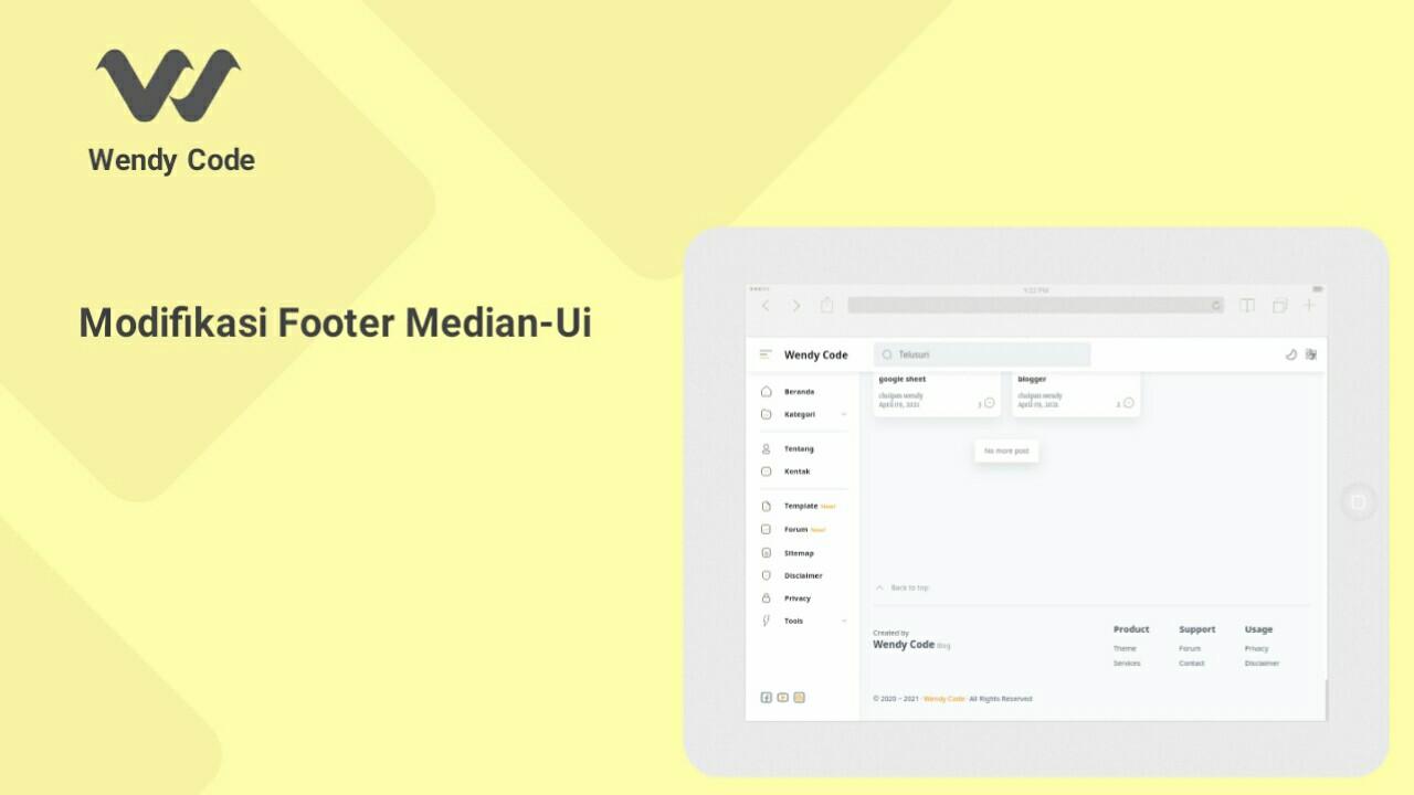 modifikasi footer template median-ui