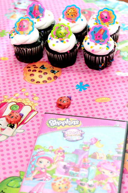 Shopkins party ideas, easy shopkins party ideas, shopkins family movie night, Shopkins world vacation movie review