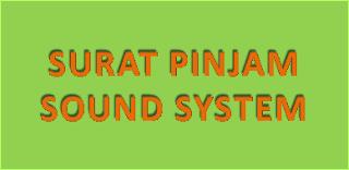 Contoh Surat Permohonan Pinjam Sound System Acara Kegiatan OSIS Sekolah Acara Senam