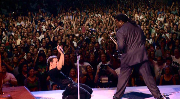Bruce Springsteen and Clarence Clemons