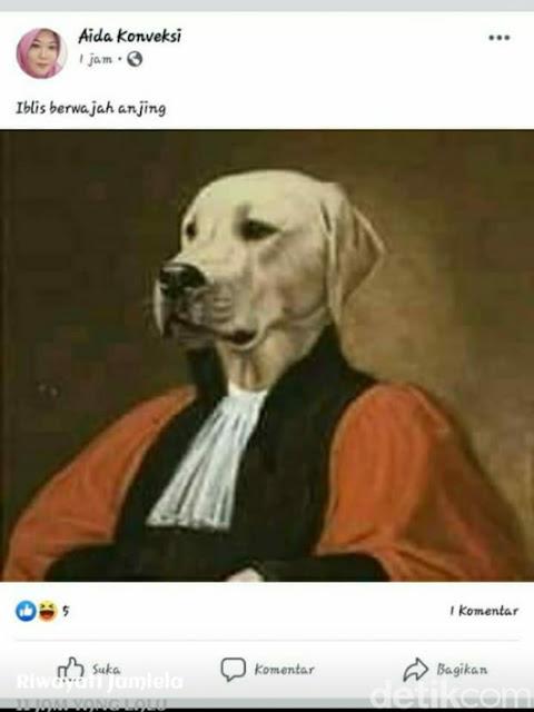 Akun Facebook Hina Presiden Jokowi Mumi di Blitar Juga Edit Hakim MK