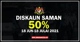 Cara Bayar Diskaun Saman 50% Bermula 18 Jun Sehingga 18 Julai 2021