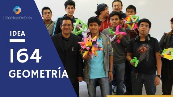 Idea de tesis 164: ¿Cómo utilizar el origami modular para la enseñanza de la geometría?