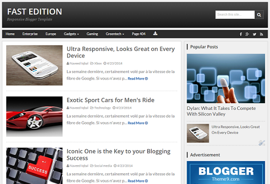 FastEdition Premium Blogger Template