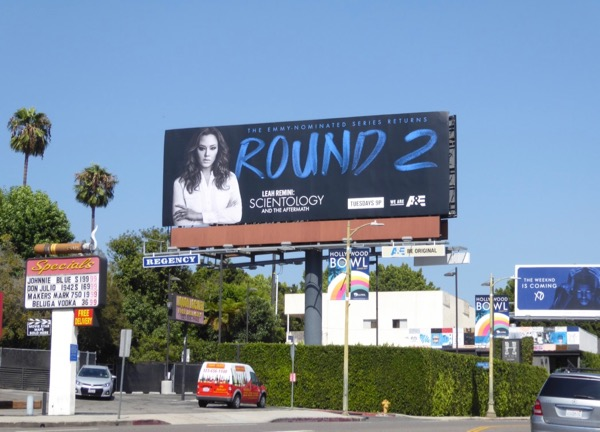 Leah Remini Scientology round 2 billboard