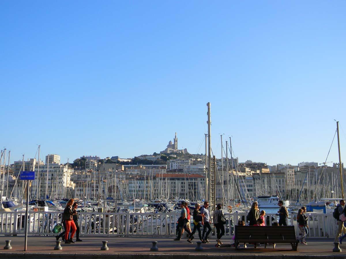 Le vieux port de Marseille, automne