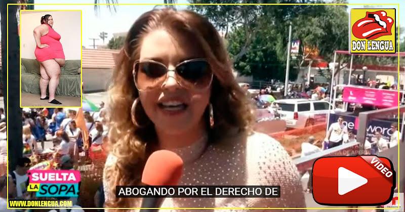 """Alicia Machado declara públicamente que ha tenido varias novias """"Grandotas"""""""