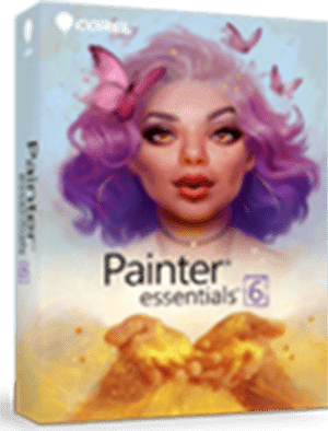 Painter Essentials 6 (Windows/Mac), Paint Program & Photo Painting Software