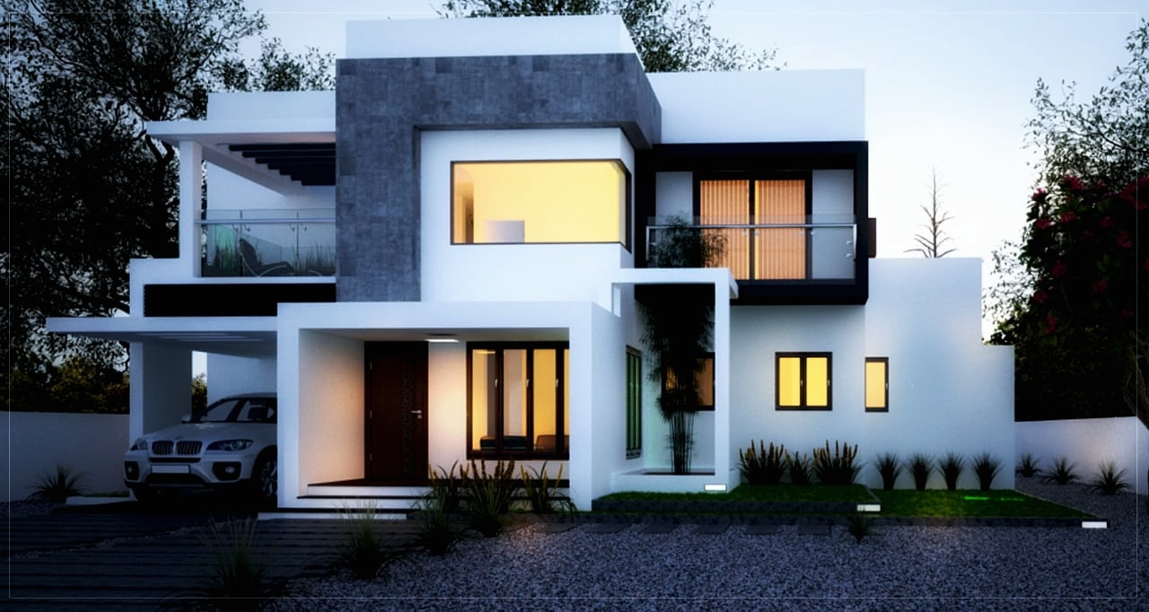 New modern house 3d elevation in Kerala