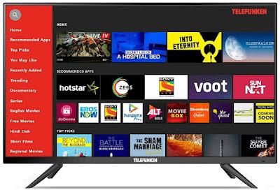 6. Telefunken 40 Inches Full HD Smart LED TV TFK40S: