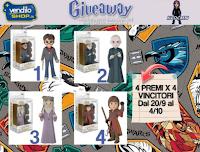 Vinci gratis 4 premi Funko Harry Potter POP Rock Candy Vinile