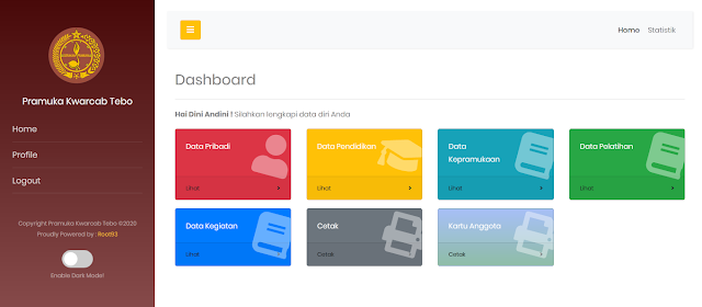 Ameska – Aplikasi Manajemen Pramuka Berbasis Web - copyright root93 blog