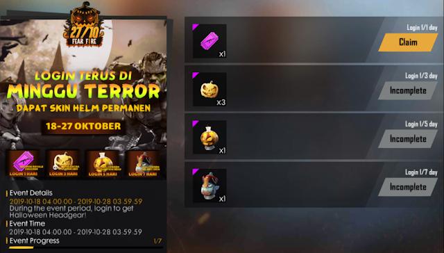 Cara Mendapatkan Token Bat Lollipop Event Fear Fire Halloween FF