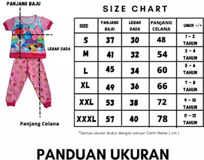 Ukuran Baju Anak Perempuan