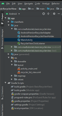 android recyclerview complete tutorial