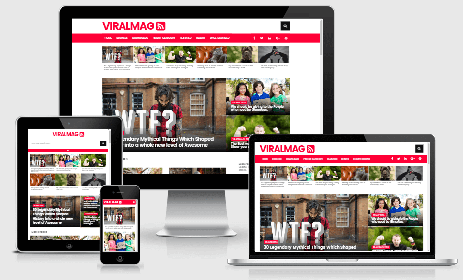 Download Viral Mag Multipurpose Responsive Blogger Template