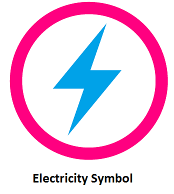 electricity symbol, symbol of electricity