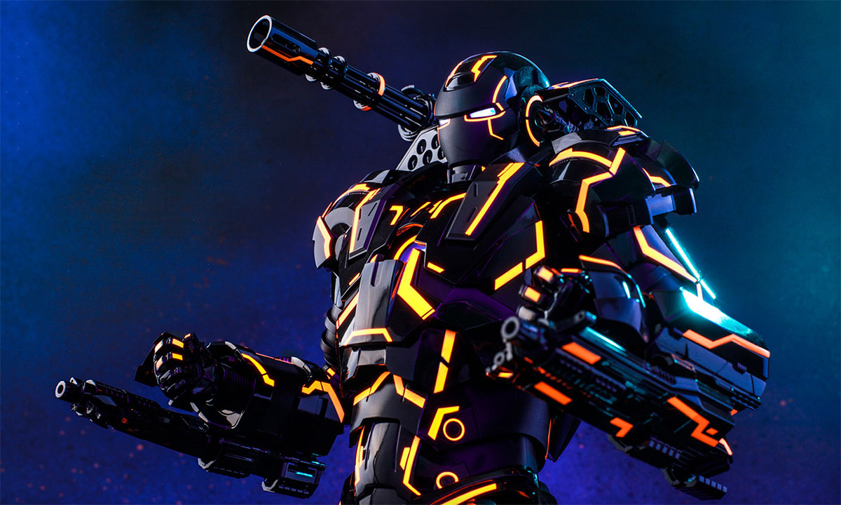 Neon Tech War Machine Sixth Scale Figure by Hot Toys